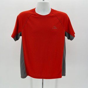 L.L. Bean Slightly Fitted Red Orange & Gray Shirt